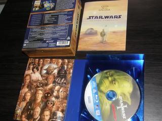 STAR WARS SAGA COMPLETA 17 DISCOS BLU-RAY NUEVOS