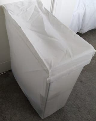 White Laundry bag with stand, 80 l