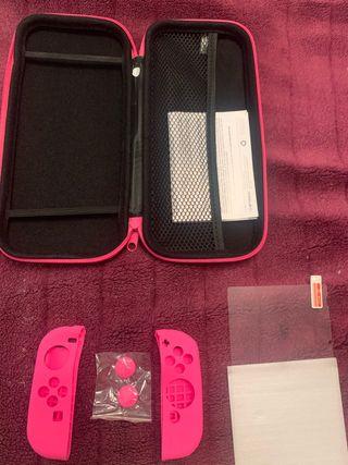 Funda Nintendo Switch + funda silicona + cristal