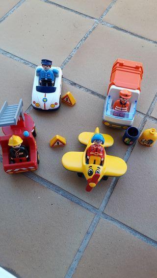 Lote vehículos de Playmobil 123