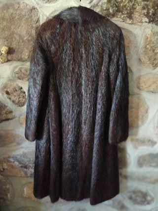 Abrigo piel de nutría