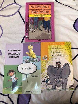 Libros de lectura infantiles en euskera