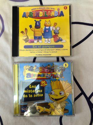 CDs de juegos. LOS LUNNIS Y APRENDILANDIA