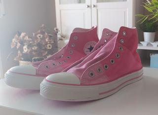 zapatillas CONVERSE altas rosas