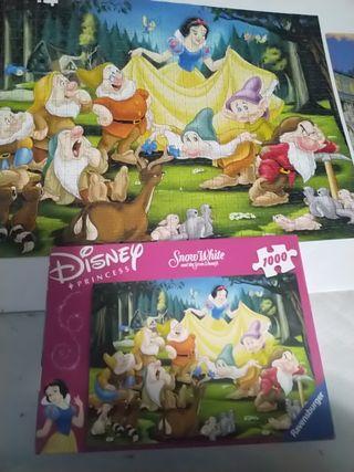 puzzle blancanieves Disney. marca Ravensburger