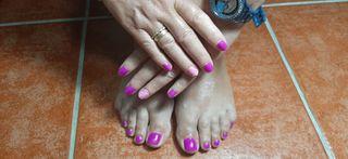 manicura y pedicra semipermanete