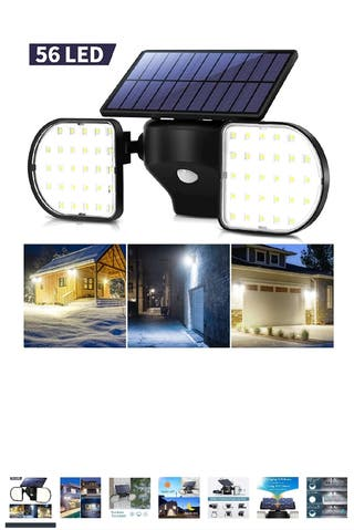 Outdoor Lights Solar Powered 56 LED Solar Lights M