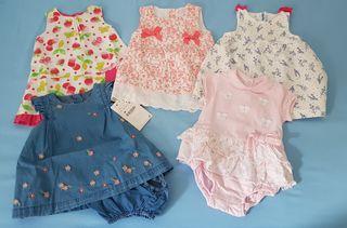Lote de 5 vestidos de bebe de 3 a 6 meses