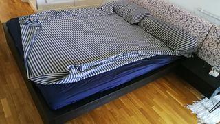 cama completa 1,60x2,00 malm ikea con colchón
