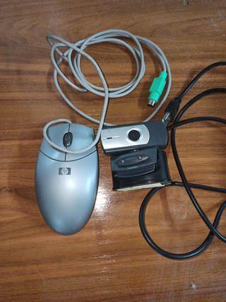 Ratón HP y webcam