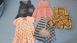 Lote de vestidos bebé de 9 a 12 meses