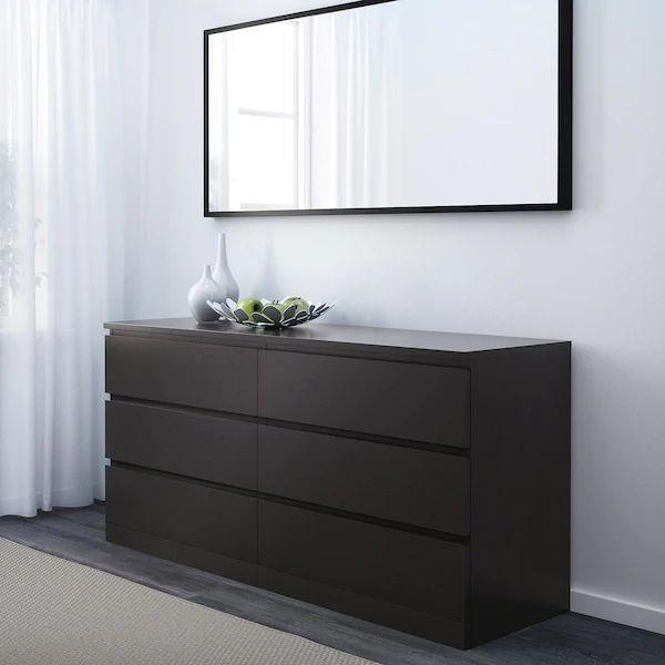 Mueble cómoda Ikea negra-marrón
