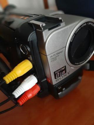 videocamara sony hi8 handycam + extras,baterías...