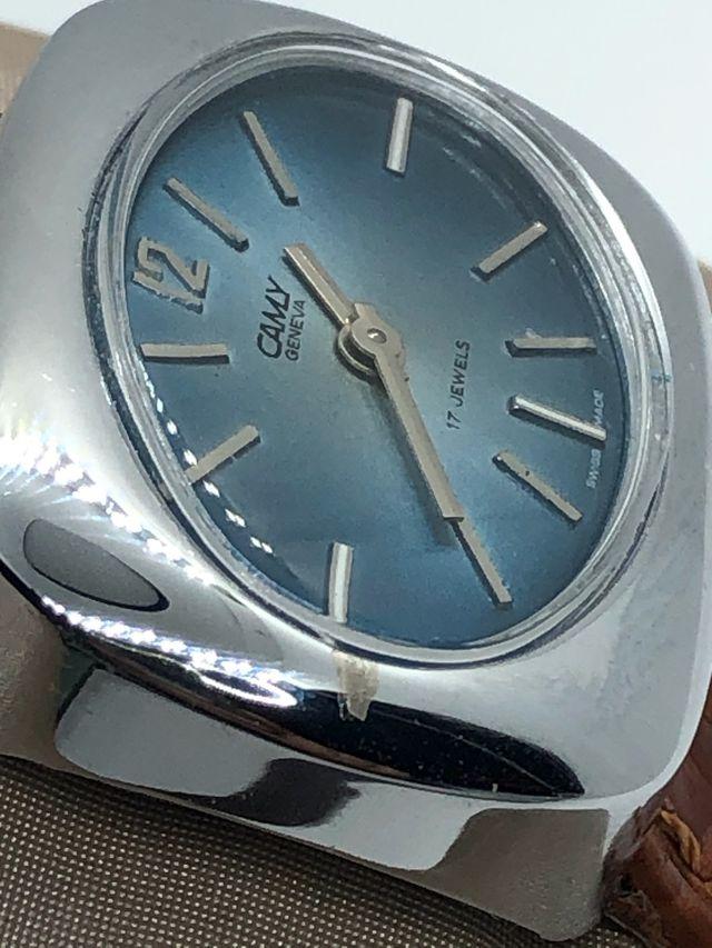 Reloj CAMY Vintage suizo Génova cuerda 17 ruvis