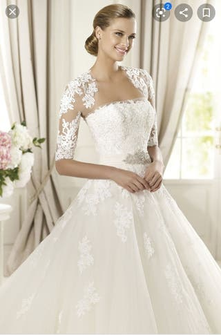 Pronovias. Vestido y torera precioso boda