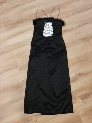 Vestido negro largo talla M