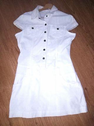 Vestido blanco Pimkie, talla 42