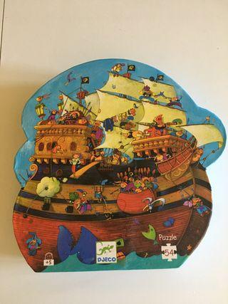 Puzzle infantil de piratas