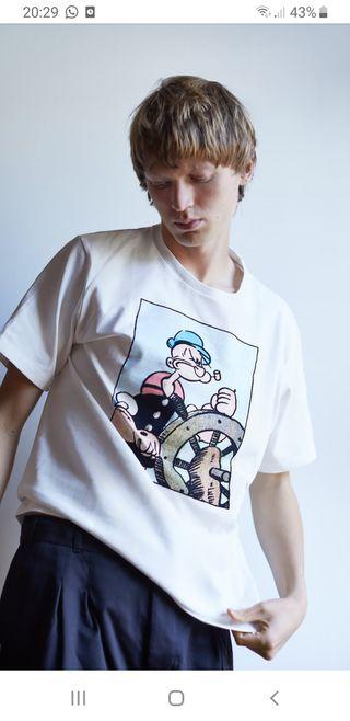 Camiseta hombre Talla L Popeye sin estrenar