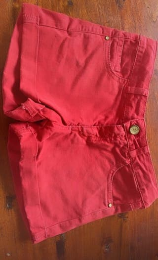 Shorts rojos para niña/o