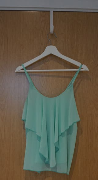 Turquoise Top with Thin Straps