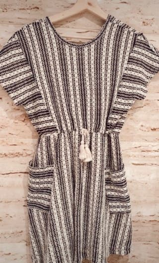 Vestido rallas Zara