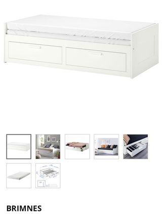 Brimnes Sofá cama blanco IKEA