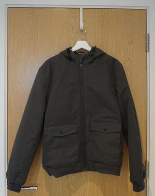 Primark Mens Gray Casual Padded Raincoat Hood Jac