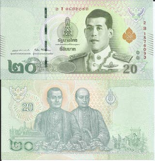 TAILANDIA BILLETE 20 BATH 2018