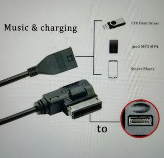 cable VW AUDI media-in AMI MDI USB