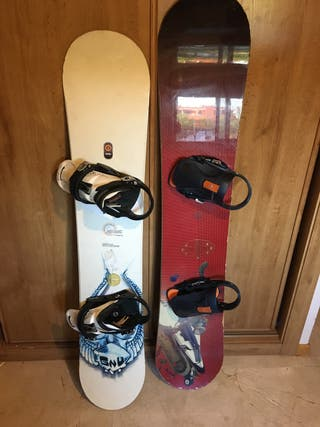 2 Tablas snow board con fijaciones