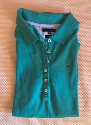 Polo verde Tommy Hilfiger mujer