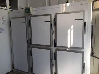 Cámara paneles armario frigorífico con estantes