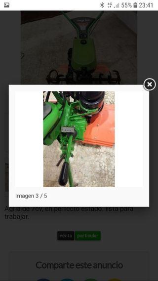 motocultor agria de gasolina 2tiempos