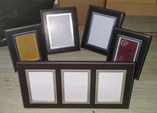 Brown Leather Photo Frames
