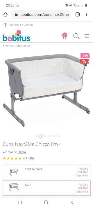 Cuna colecho Chicco next2me