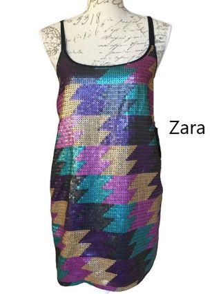 Vestido fiesta Zara. ABSTENERSE CORREOS. DENUNCIO!