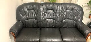 3+1+1 real Italian leather sofas