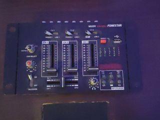 MEZCLADOR DJ CON REPRODUCTOR SM-506U FONESTAR