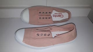 zapatillas lona cienta