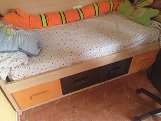 cama soporte con cajones grandes