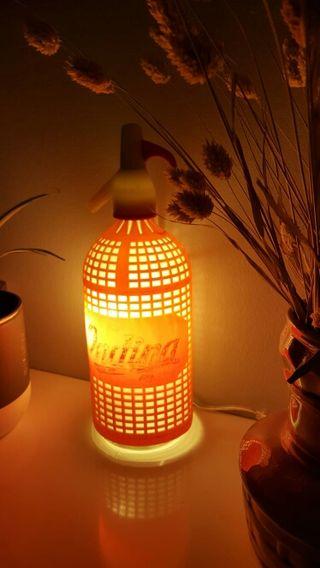 lampara sifon vintage Ondina luz ambiente calida
