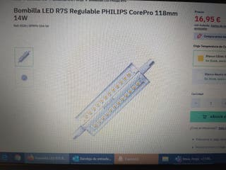 Bombilla R7S 14W 1600 lm Philips Led
