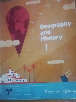 Libro de Geografía e Historia de 1 Eso bilingüe