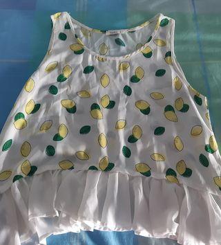Blusa con estampado limones