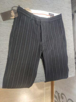 pantalones hombre dockers negro slim fit rayas