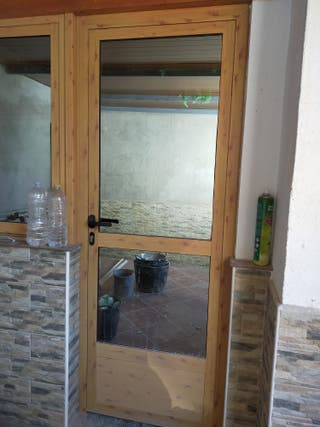 puertas aluminio 2x1
