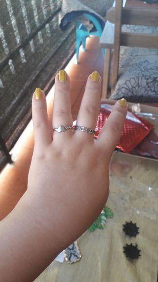 anillos de acero inoxidable talla m/l