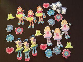 Pegatinas de princesas de goma eva