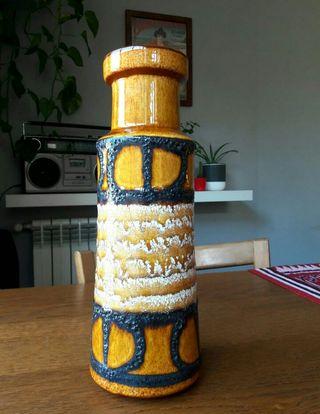 Jarron vintage cerámica fat lava Scheurich